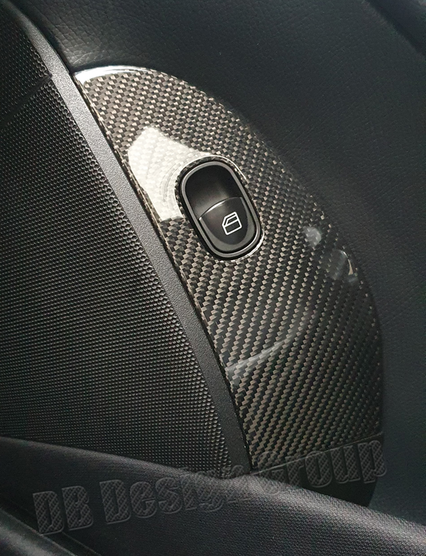 Mercedes Benz CLK W209 carbon window switch trim panel mirror adjustment cover door panel carbon parts