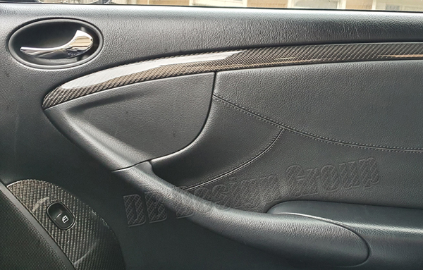 Mercedes Benz CLK W209 carbon door trim lining door handle cover strip interior linings door panel carbon parts