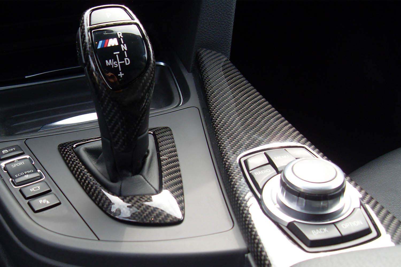 BMW 3 E90 E92 F30 Carbon Mittelkonsole Echt Carbon Interieur Dekor Zierleisten Carbonteile Konsole Schaltknauf