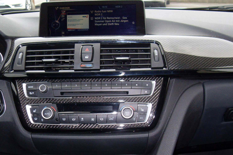 BMW 3 E90 E92 F30 Carbon Zierleiste Armaturenbrett Echt Carbon Interieur Dekor Leisten Carbonteile Ausströmer Center