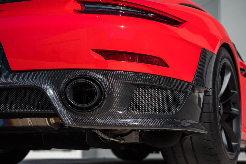 Porsche 991 GT2 RS Carbon Diffusor Heck Echt Carbon Verkleidung Spoiler Exterieur Carbonteile Heckstoßstange Auspuff