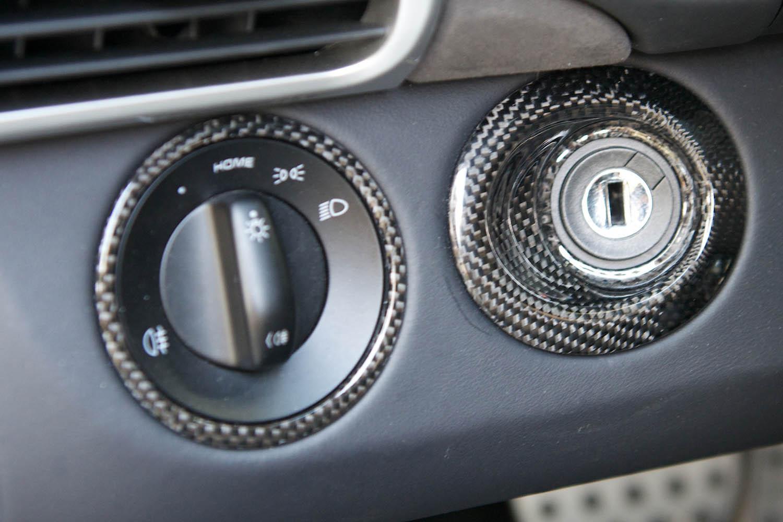 Porsche 987 997 Carbon Rosette Zündschloss Lichtschalter Echt Carbon Armaturenbrett Verkleidung Carbonteile Interieur Konsole Türverkleidung