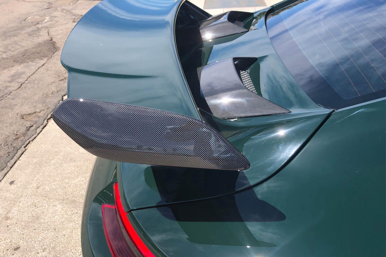 Porsche 991 GT3 Carbon Hutzen Lufteinlass Motordeckel Echt Carbon Heckspoiler Blades Carbonteile Spoiler Deckel