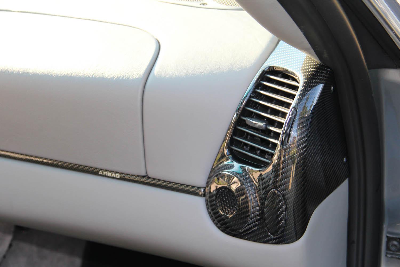 Porsche 986 996 Carbon Luftdüse Ausströmer Verkleidung Echt Carbon Interieur Zierleisten Carbonteile Armaturenbrett Mittelkonsole