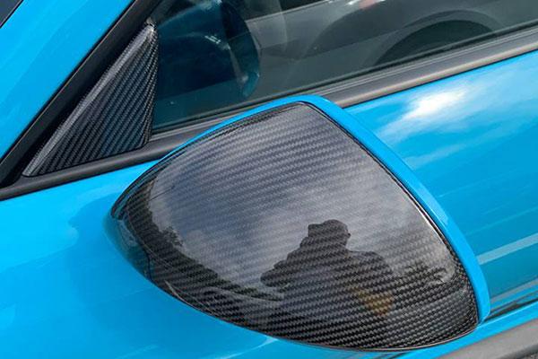 Porsche 981 991 991.2 Carbon Spiegel Gehäuse Sport Design Spiegelschalen Kappen Fenster Dreieck Blende Carbonteile