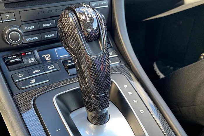 Porsche 991 981 carbon pdk shift knob center console carbon parts